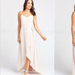 Mariah Mumu Maxi Wrap Dress